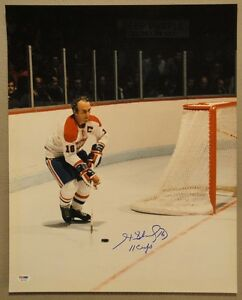 Henri Richard SIGNED 16x20 +11 Cups Montreal Canadiens PSA/DNA AUTOGRAPHED PHOTO