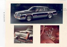 1983 Oldsmobile Hurst Olds Original Factory Photo & Press Release mw9210