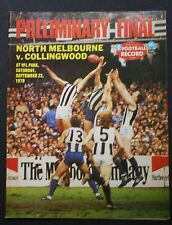 1979 preliminary final North Melbourne v Collingwood Football Record