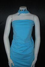 Cotton Jersey Lycra Knit Fabric 4 ways Stretch Luxurious Sky Blue Aqua 10 oz