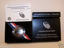 2014 Hall of Fame Uncirculated CLAD Half Dollar - Denver Mint - FREE SHIPPING