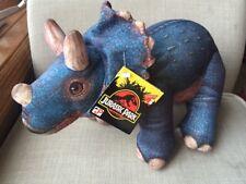 Jurassic Park Triceratops Dinosaur 1992 Plush Stuffed Animal