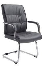 Chaises gris en métal pour le bureau