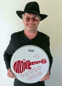 "MICKY DOLENZ DIRECT 2U! 14"" DRUM HEAD SIGNED TO THAT SPECIAL SOMEONE *  MONKEES"