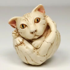 Harmony Kingdom Treasure Jest Box Roly Poly Homer the Cat Kitty 2001 Sgn Mib