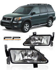 2006-2008 Honda Pilot Clear Replacement Fog Lights Lamps Housing Assembly Pair