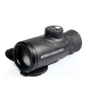 Braun Photo Technik 8 x 42 Monocular in Black + built in Compass Waterproof WP-C