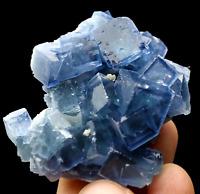 45.9g Rare Transparent Blue Cube Fluorite Crystal Mineral Specimen/China