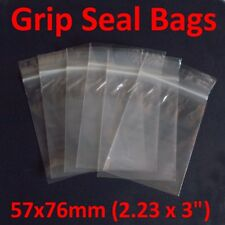 Small Polythene Bags (57mm x 76mm) pack of 100 high quality self resealable