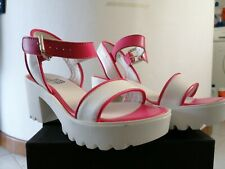 Sandali LOVE MOSCHINO donna usati bianco e rosa 36