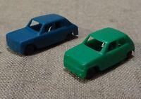 2 anciennes voitures miniatures Jouef Renault R5 Simca 1100  HO 1/87