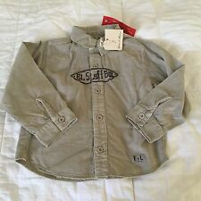 Eliane & Lena baby boy long sleeve button down shirt 18 months old NWT's S17