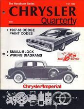 BRAND NEW Chrysler Quarterly Fall 1989 Imperial 1967 1968 Dodge Charger Mopar RT