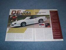 "1991 Chevy Camaro Convertible Z/28 Resto-Mod Article ""De-Stigmatizer"""