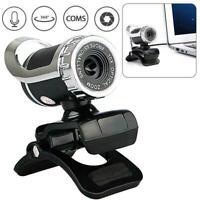 360 ° USB Web Cam Webcam Kamera mit MIC Clip-on für Computer Pretty Laptop