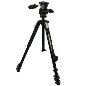 Manfrotto Tripod 190X Series Aluminium Kit With 3-Wege-Neiger 804RC2 Load 4Kg