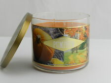 New Bath & Body Works 3 Wick Candle in Pumpkin Fall Scent