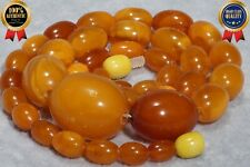 Last century antique natural Baltic amber necklace 25 g. DHL 4-5 DAYS WORLDWIDE