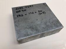 "ALUMINIUM 6082 T651 SQUARE BILLET 190 x 176 x 50mm flat bar sheet plate 2"" HE30"