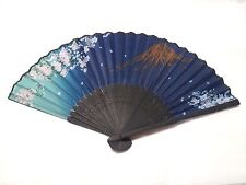 JAPANESE Sensu Fan With the wind /poly made/Sakura and Fuji Mountain /Japan