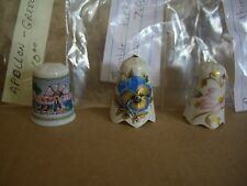 Collector Ceramic Thimbles lot of 3 different