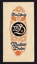 16)Nr.049- EXLIBRIS- Jugendstil / art nouveau - Walter Buhe