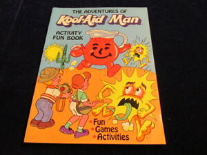 1984 The Adventures of Kool-Aid Man Comic Activity Book w/the Thirsties Vtg Q960