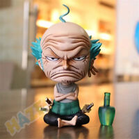 Anime One Piece GK Roronoa Zoro Old Man Sitting 14cm PVC Figure Statue Model Toy