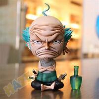One Piece GK Roronoa Zoro Anciano Sentado Figura de acción Modelo de juguete