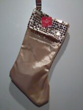 Happy Holidays Golden Stocking  With Golden Sequins
