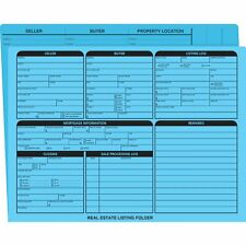 Real Estate Folder Right Panel List Letter Size- Blue Size: 11 3/4 x 9 5/8""