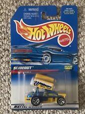 1998 Hot Wheels #1001 SLIDEOUT Blue/Yellow - Chrome 5 Spoke Wheels