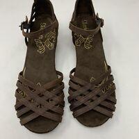 NEW Women 10 M Sketchers Platform Suede Sandals Strappy Shoes SN 46739 2002049