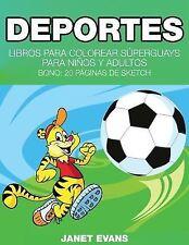 Deportes : Libros para Colorear Superguays para Ninos y Adultos (Bono: 20...
