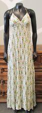QUIKSILVER XS Womens Green Blue Triangle Geo Print Halter Maxi Dress - XSmall