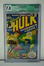 MARVEL COMICS CGC QUALIFIED 7.0 THE INCREDIBLE HULK 182 12/74 OFF-WHITE PAGES