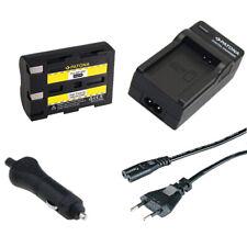 Batteria Patona + caricabatteria casa/auto per Minolta Dynax 5d,Dynax 7d