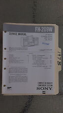 Sony fh-209w service manual original repair book stereo boombox radio tape deck