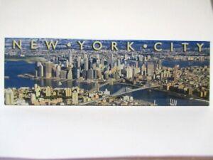 New York Photo Magnet Skyline Incl. World Trade Center New (8123)