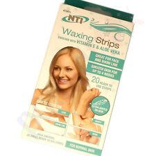 20 HAIR REMOVAL FACIAL WAX STRIPS FOR FACE CHIN UPPER LIP JAW Vitamin E ALOEVERA