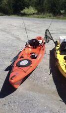 kayak 14' Wilderness Systems Orange W2 custom fishing rod holders, paddle,jacket