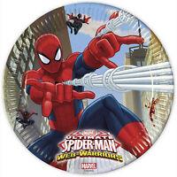 Vaisselle De Papier Officiel Marvel Spiderman Pour Fêtes Anniversaire 40 Pz 1399