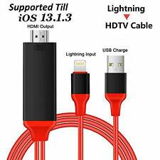 Cable Adaptador HDTV HDMI a USB 8 Pin Válido iPhone, iPad  6 7 8 10 11 ios 13