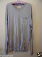 BNWT LONG SLEEVE TOP SHIRT SIZE L Gypsy 05 brand new grey made in Hollywood CA