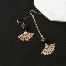 Vintage Asymmetrical Earrings Sector Bead Tassel Long Earrings Long Drop Earring