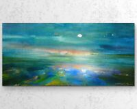 50x100cm X LARGE ORIGINAL Painting- Contemporary Seascape Art By JENNIFER TAYLOR