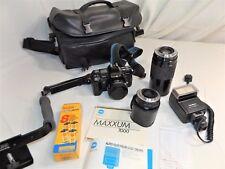 Vintage Minolta Maxxum 7000 SLR 35mm Film Camera Outfit, Lenses, Flash, Inst...