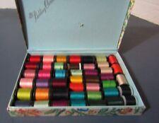Vintage box Belding Corticelli Thread 17 Belding 27 Misc.spools