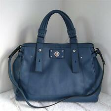 NWT MARC BY MARC JACOBS Totally Turnlock Lucy Leather Satchel Bag Deep Blue