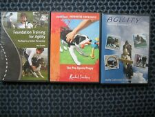 Dog Training DVDs Rachel Sanders, Janita and Jaakko, Moe Strenfel preowned